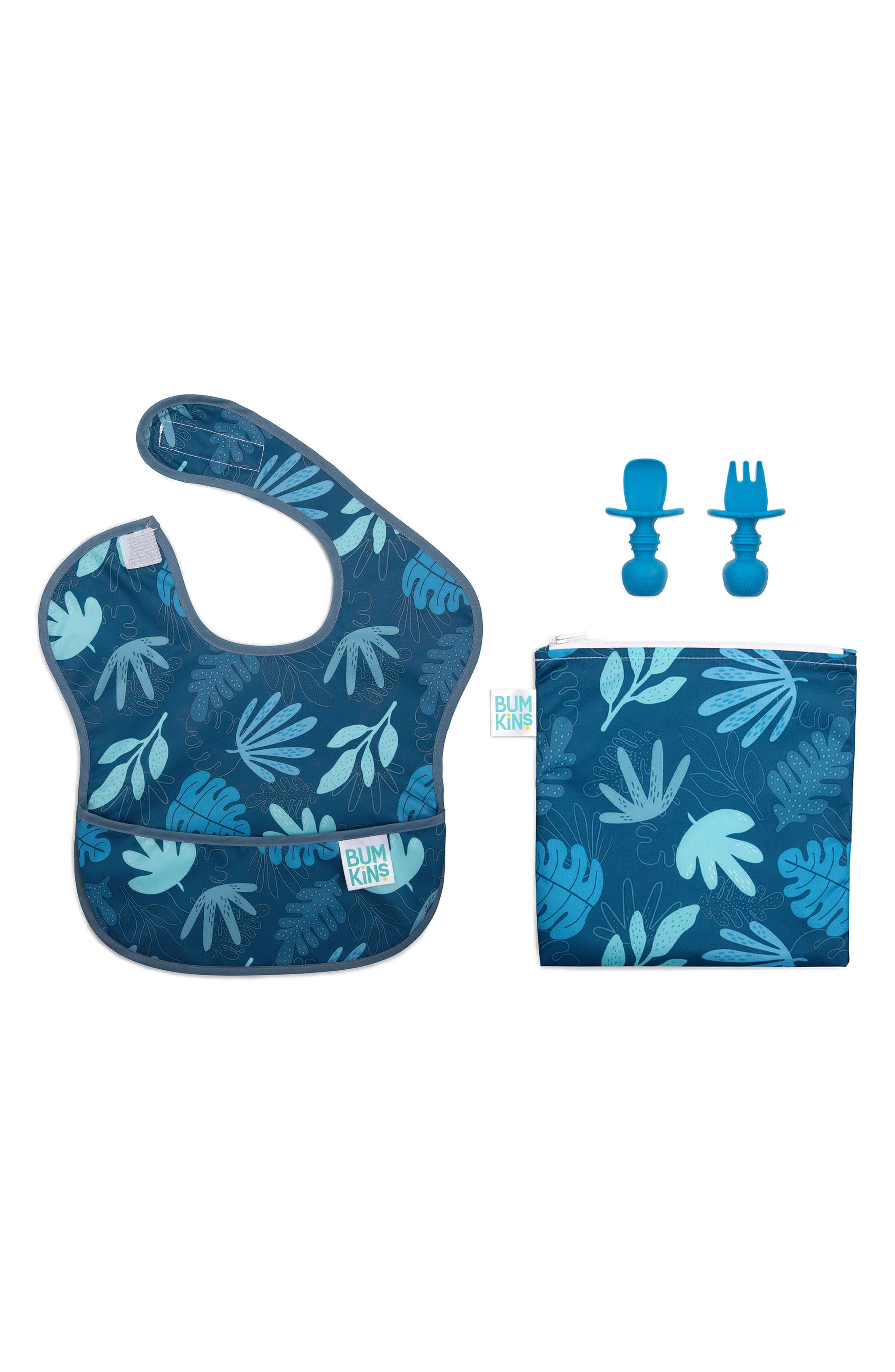 Infant Boys Bumkins The Littles Who Lunch  Blue Tropic Bundle Size One Size  Blue