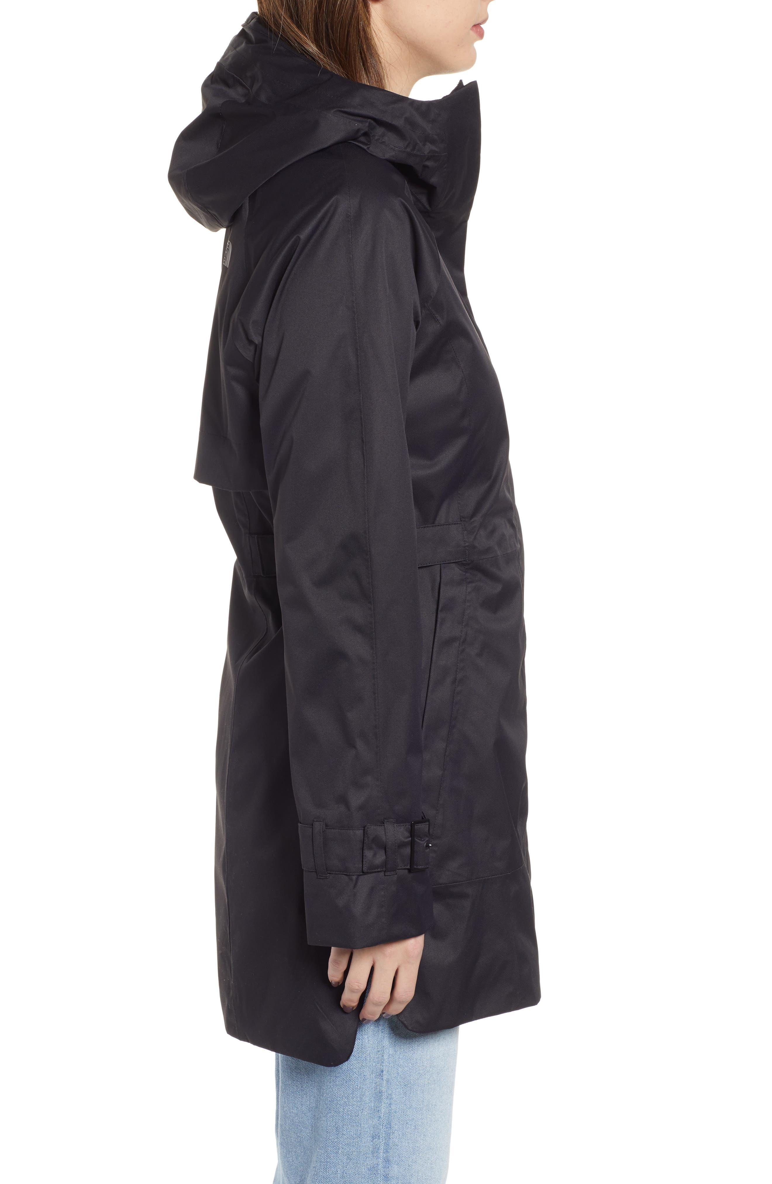 ,                             City Breeze Trench Raincoat,                             Alternate thumbnail 4, color,                             TNF BLACK