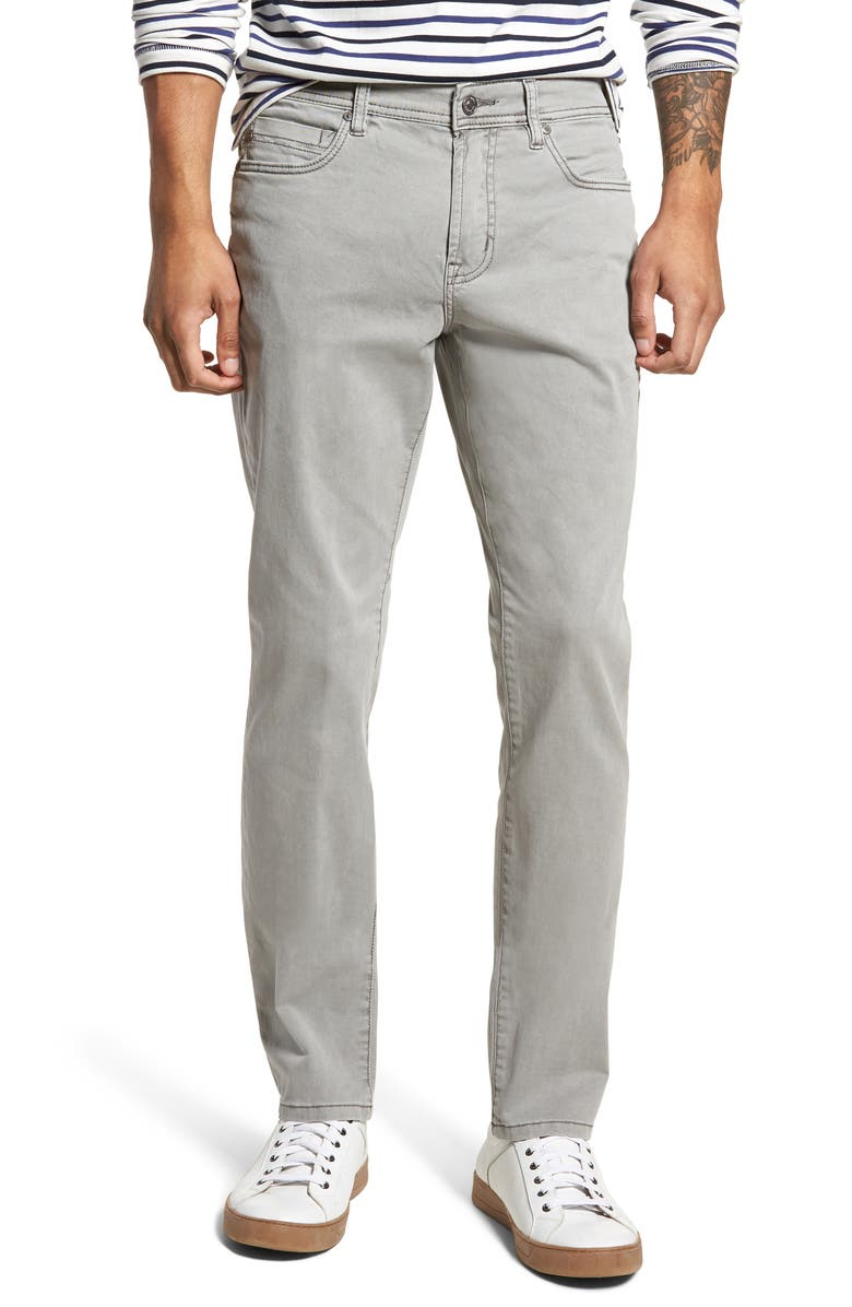 LIVERPOOL Regent Relaxed Straight Leg Twill Pants, Main, color, SHARKSKIN