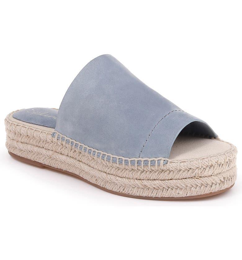 0b0ca672a Thaddeus Espadrille Slide Sandal, Main, color, LIGHT BLUE SUEDE