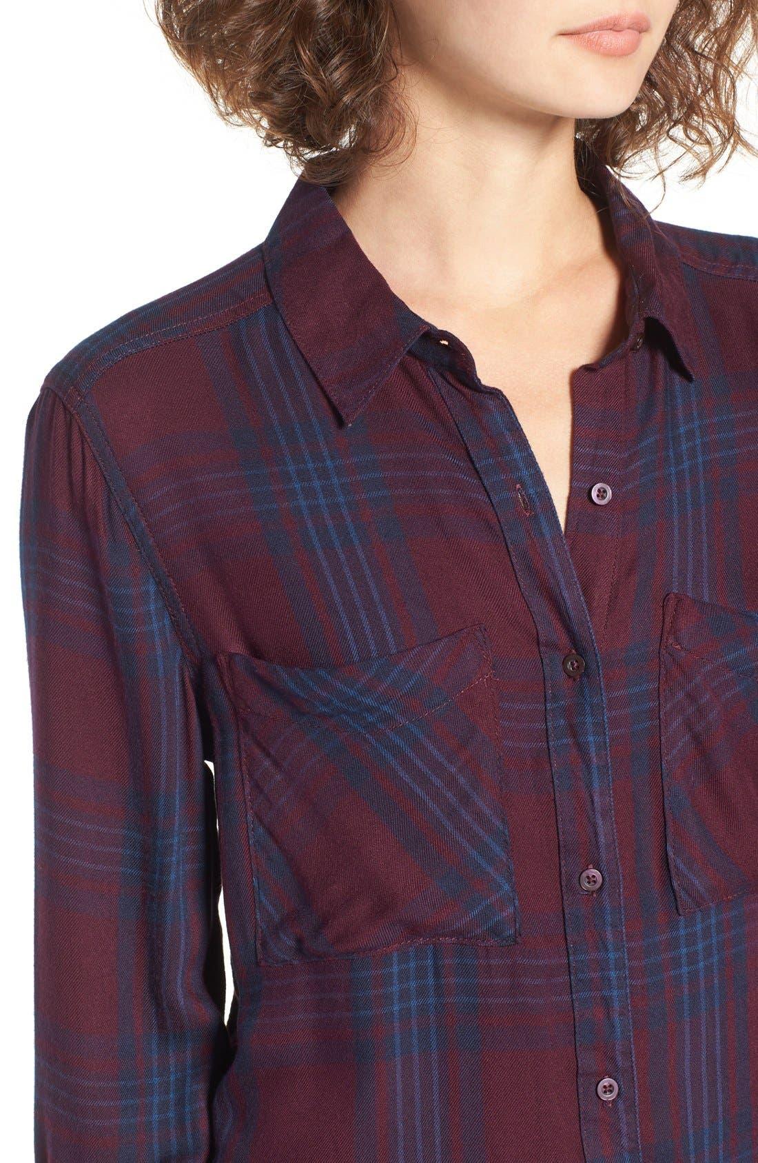 ,                             Plaid Tunic Shirt,                             Alternate thumbnail 52, color,                             930