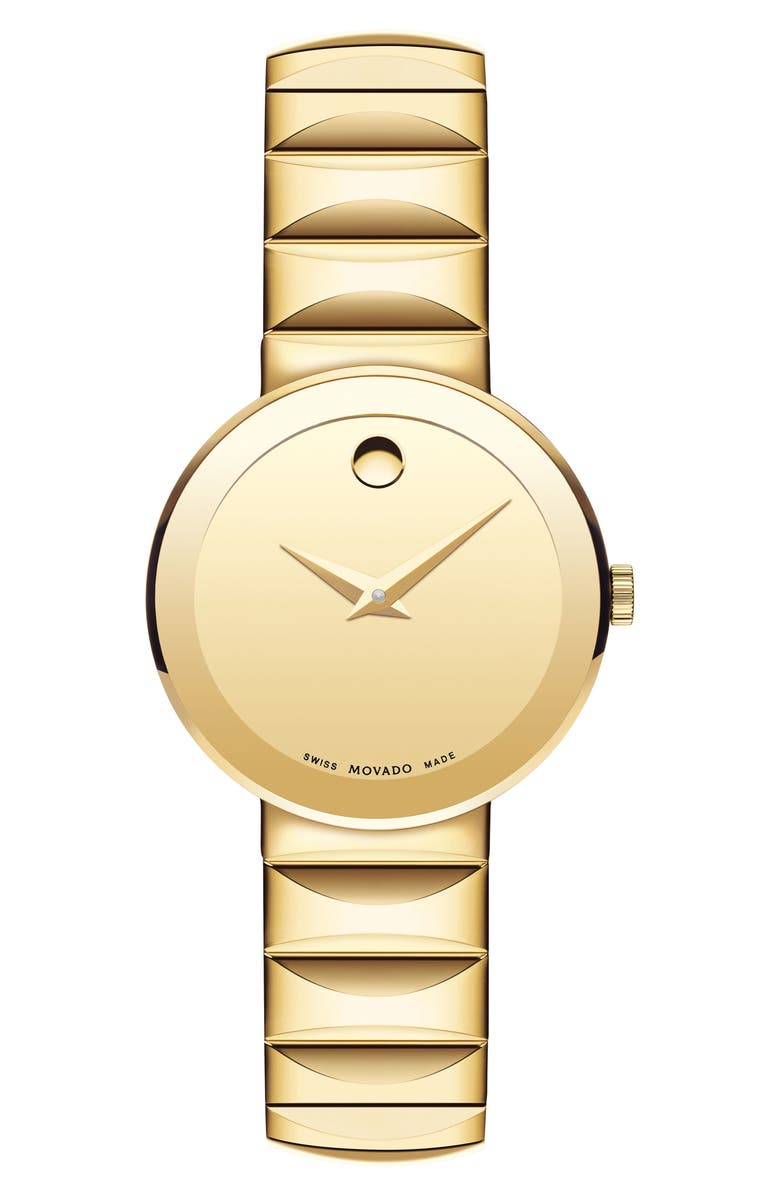 MOVADO Sapphire Bracelet Watch, 26mm, Main, color, GOLD
