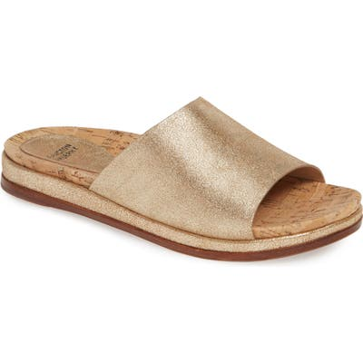 Johnston & Murphy Jenny Slide Sandal, Metallic