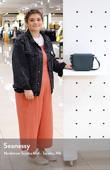 Pebbled Leather Shoulder Bag, sales video thumbnail