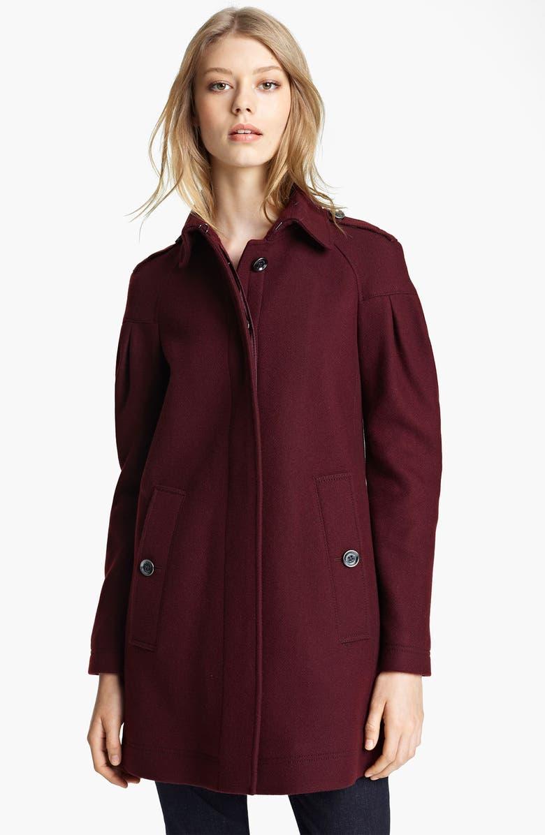 BURBERRY BRIT Wool Blend Coat, Main, color, 606