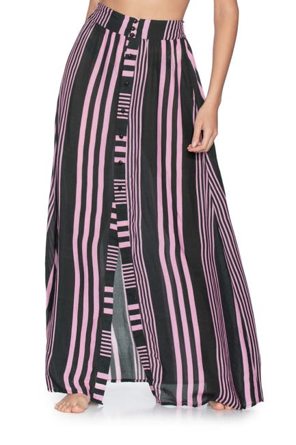 Image of Maaji Cray Sea Stripe Maxi Skirt
