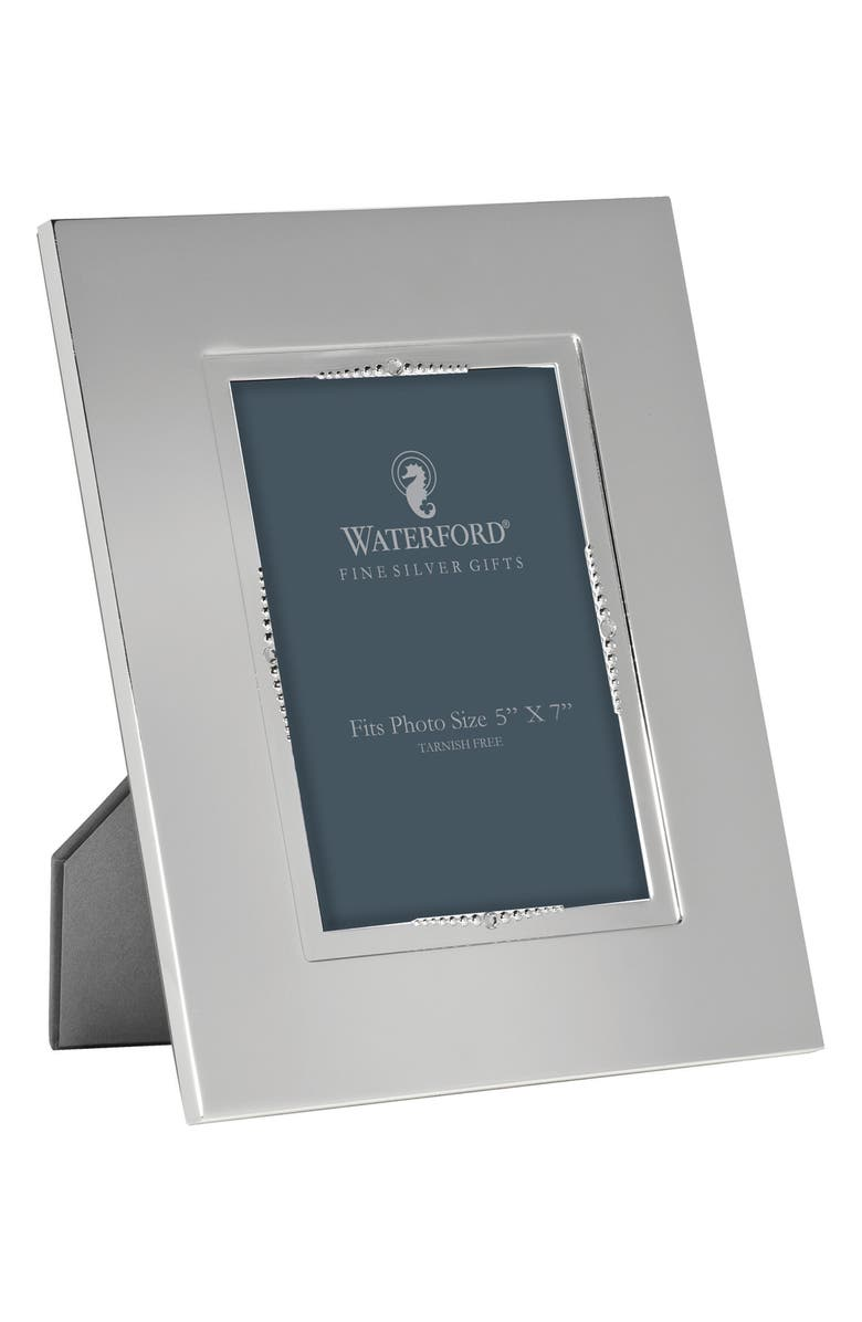 WATERFORD Lismore Bead Picture Frame, Main, color, CRYSTAL