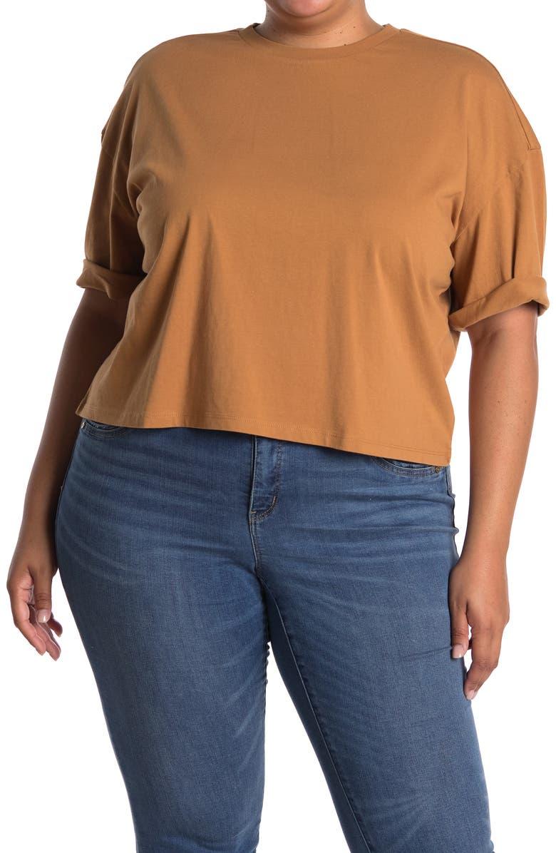 BP. Cool Girl Crop T-Shirt, Main, color, TAN DALE