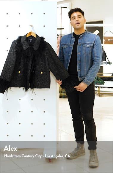 x Atlantic-Pacific Feather Trim Tweed Jacket, sales video thumbnail