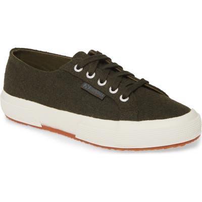 Superga 2750 Franelawoolw Low Top Sneaker, Green