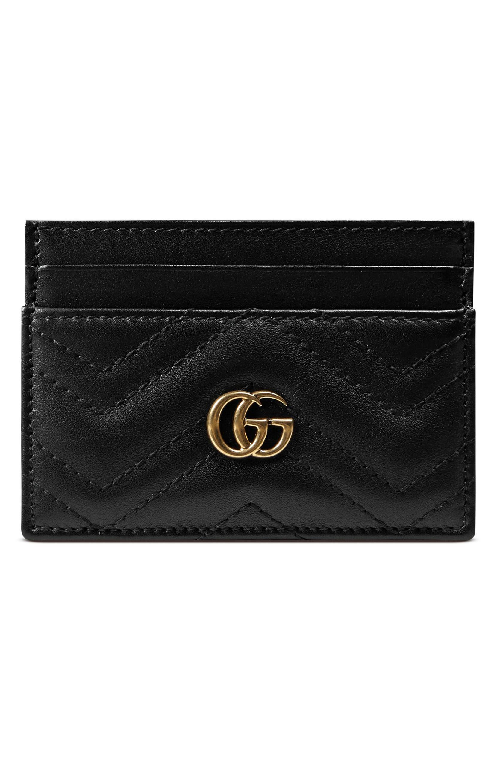 9681f0f3e0338 Gucci GG Marmont Matelassé Leather Card Case | Nordstrom