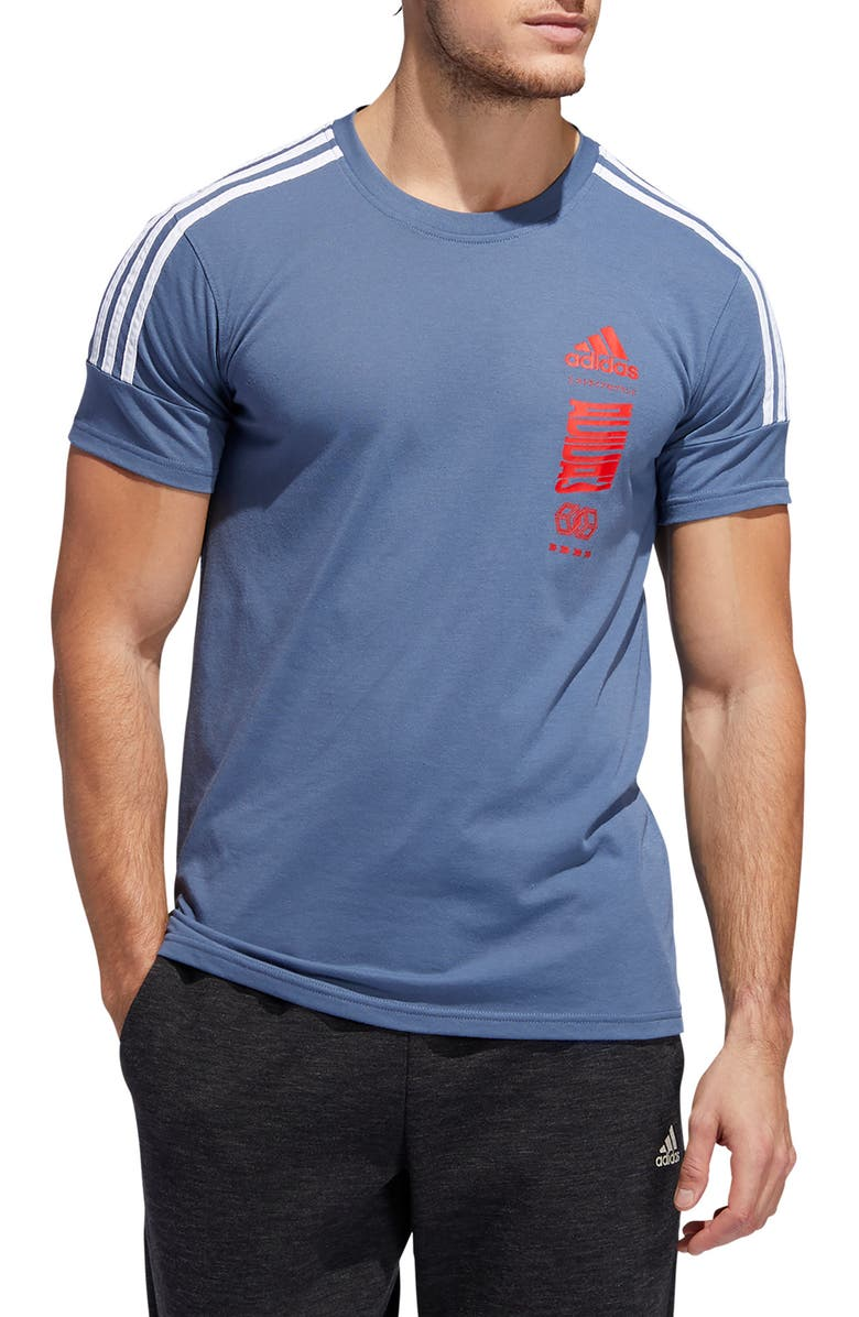 ADIDAS Hypersport 3-Stripes T-Shirt, Main, color, 497
