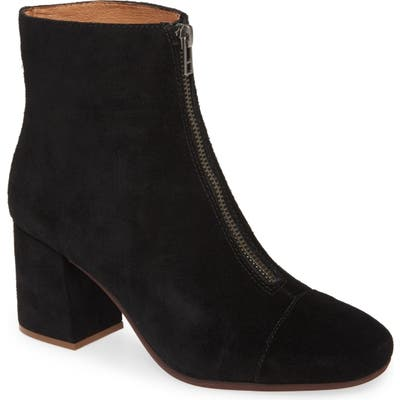 Madewell The Amalia Zip Suede Boot, Black