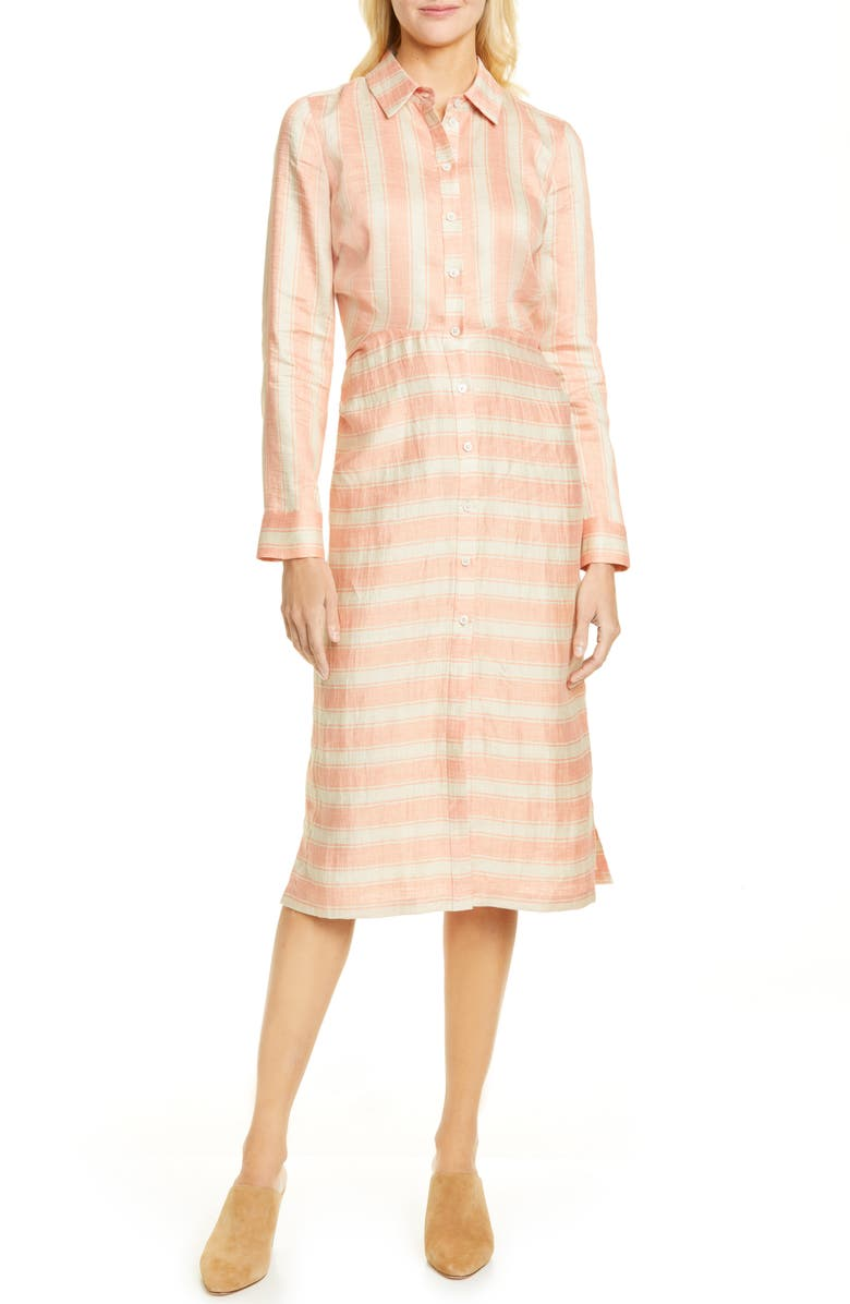 RACHEL COMEY Magnify Stripe Long Sleeve Shirtdress, Main, color, 660