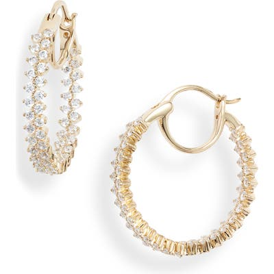 Nadri Mila Inside Out Hoop Earrings