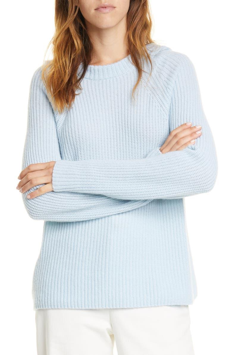 VINCE Raglan Sleeve Wool & Cashmere Hoodie, Main, color, 460