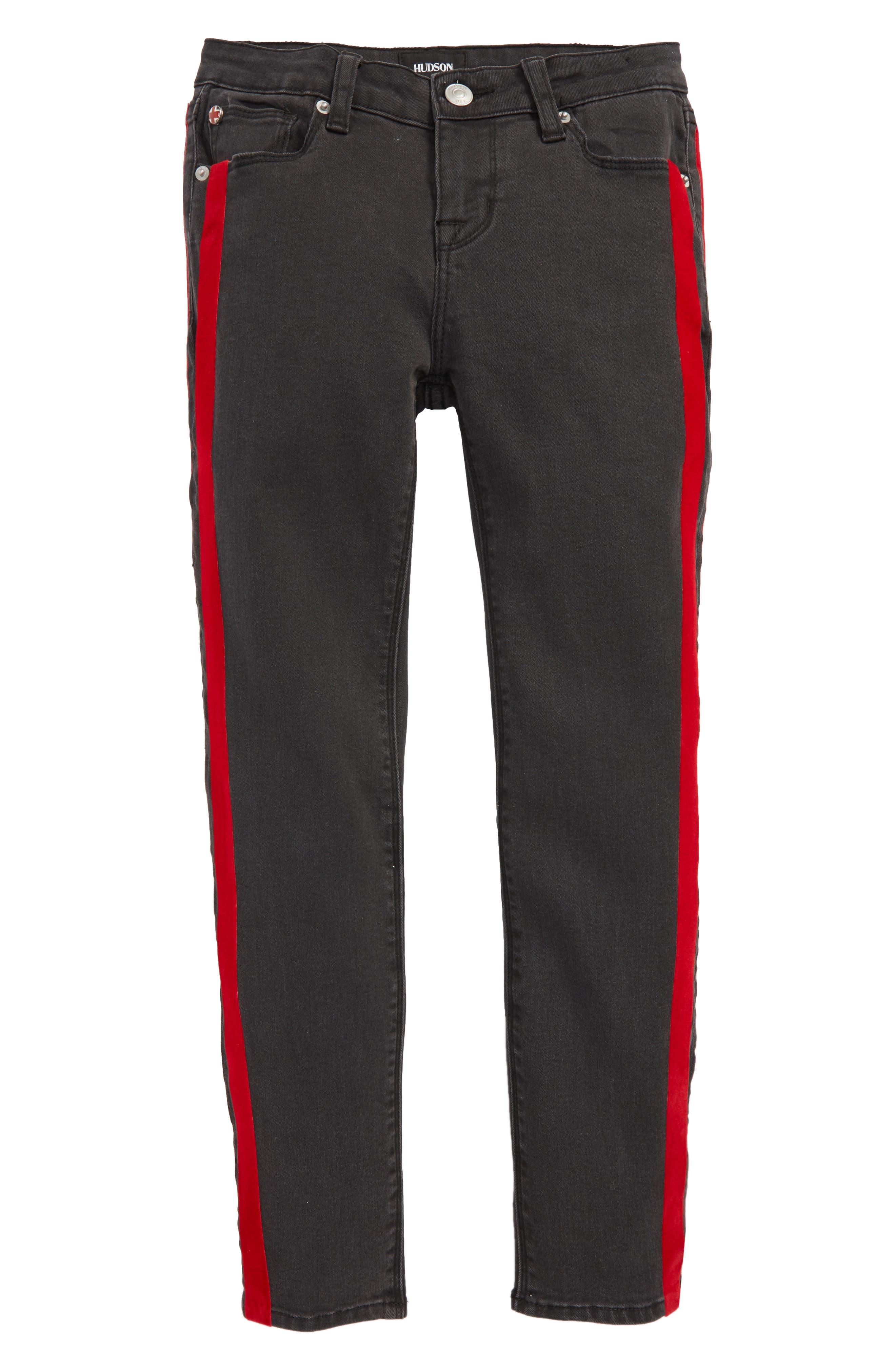 Image of HUDSON Jeans Keira Side Stripe Skinny Jeans