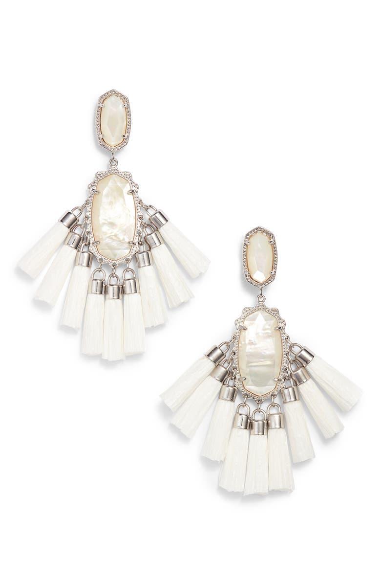 KENDRA SCOTT Kristen Earrings, Main, color, 100