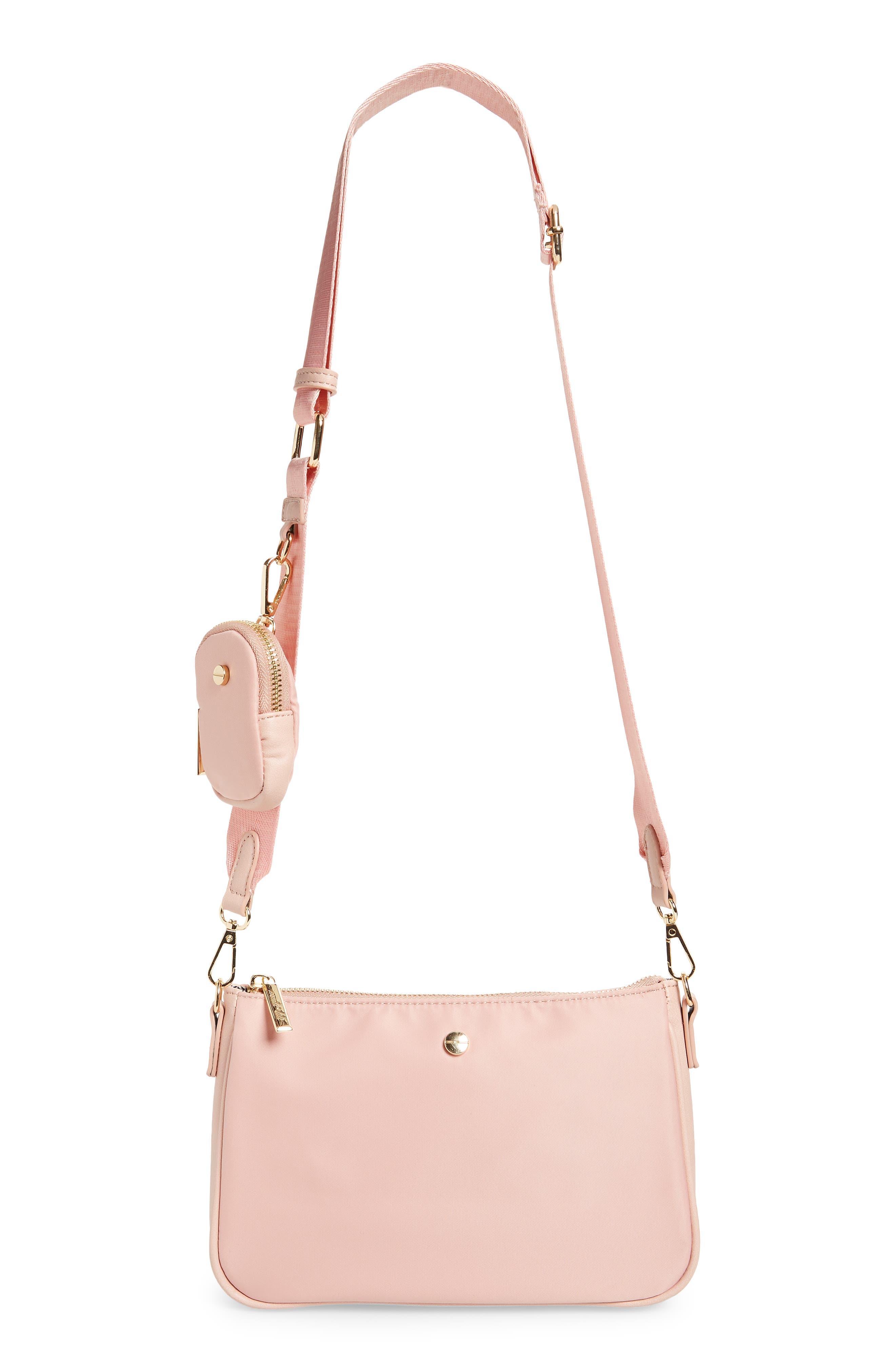Mali + Lili Marlowe Nylon Crossbody Bag With Detachable Pouch