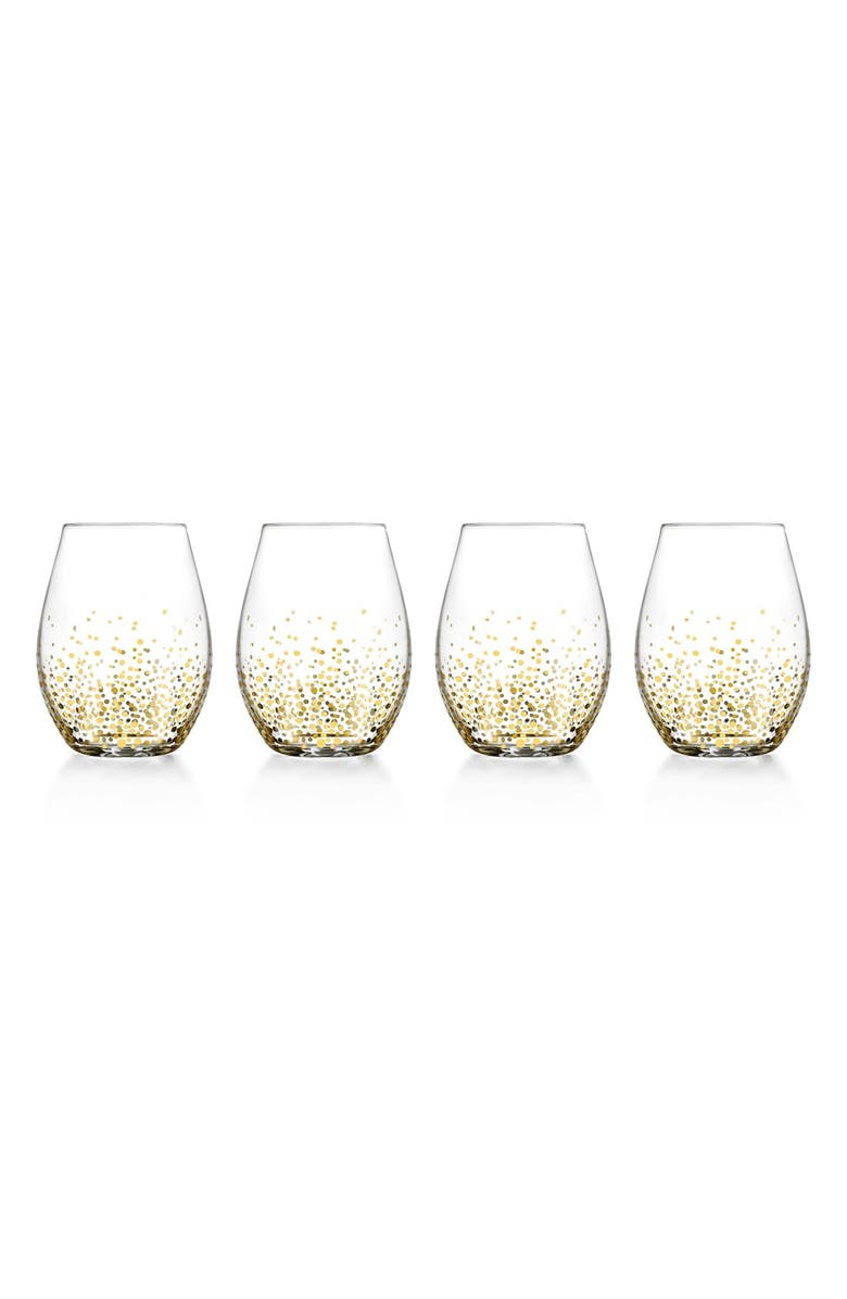 AMERICAN ATELIER Daphne Set of 4 Stemless Wine Glasses, Main, color, 710
