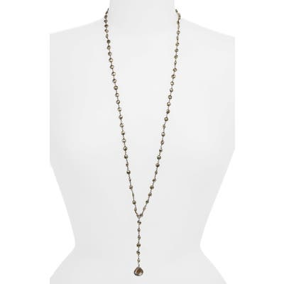 Ela Rae Yaeli Coin Long Semiprecious Stone Y-Necklace