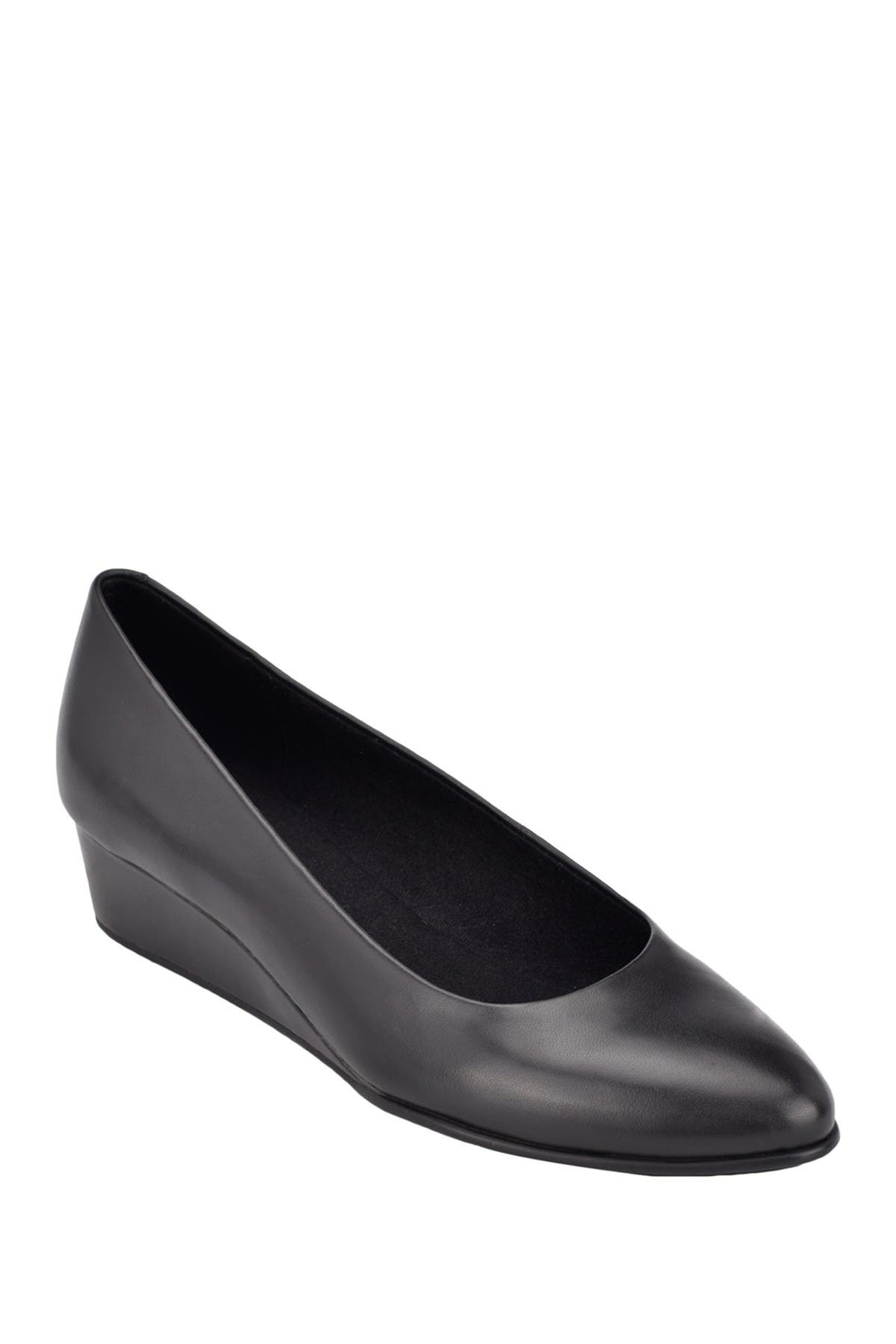 Image of Easy Spirit Abelle Leather Wedge Pump