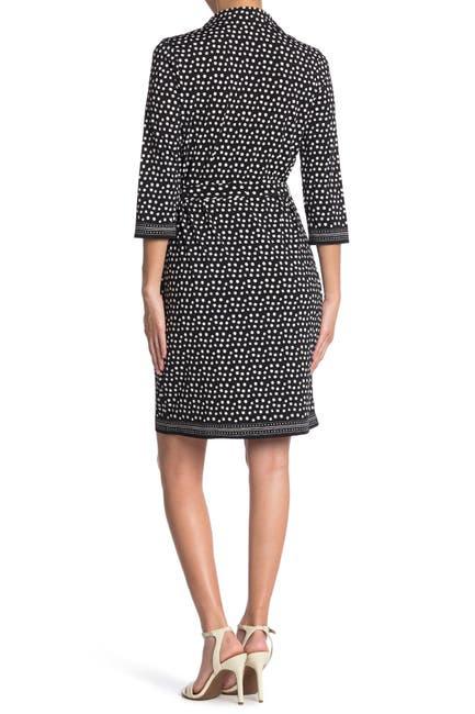 Image of Max Studio 3/4 Length Sleeve Shirt Dress