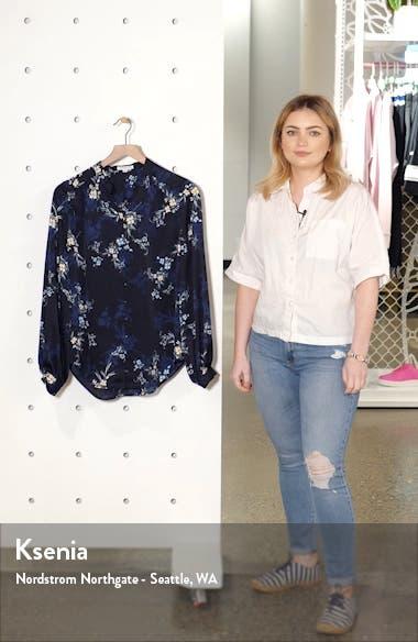 Cornelia Floral Print Blouse, sales video thumbnail