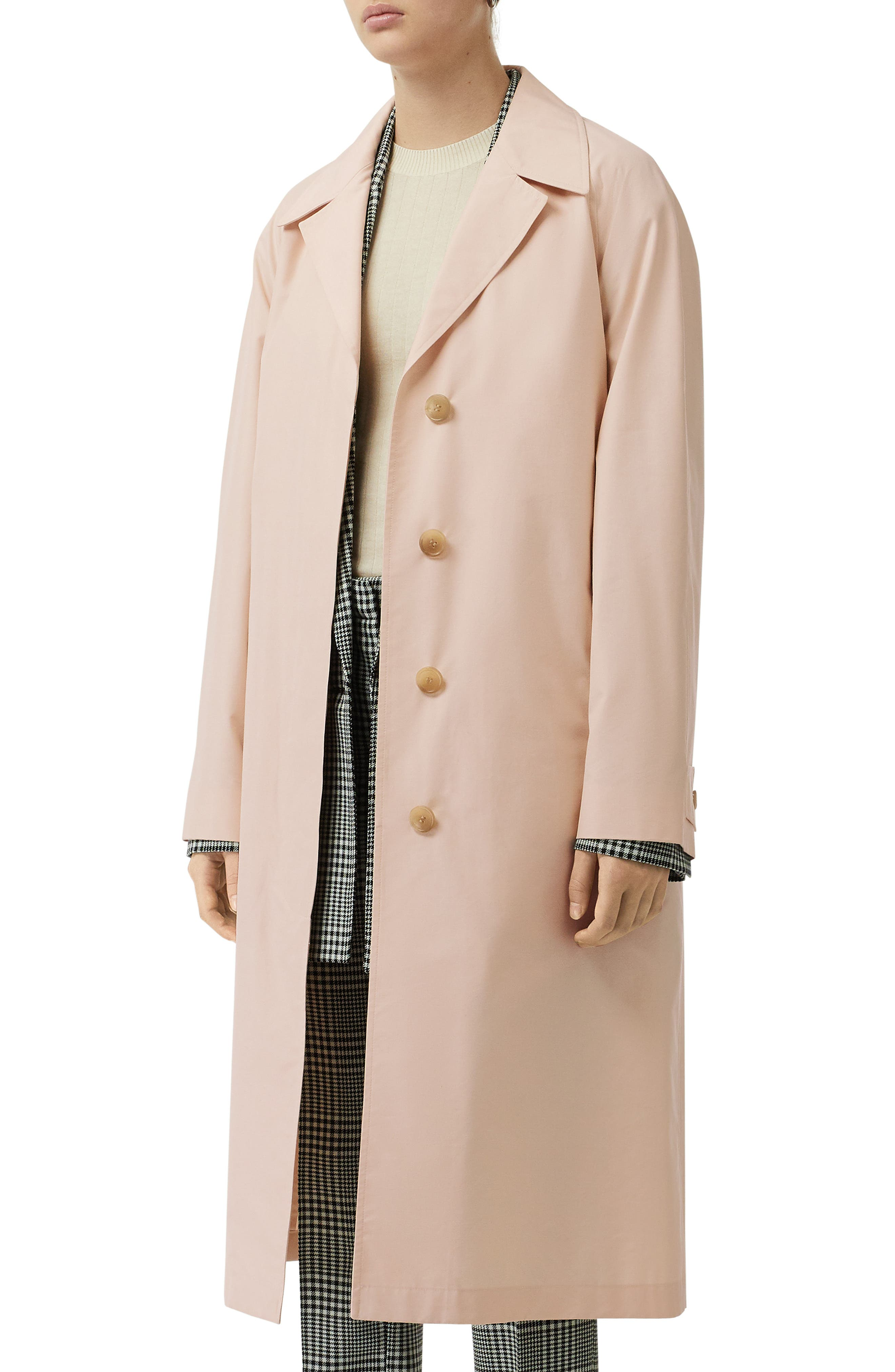 ,                             Edenderry Trench Coat,                             Alternate thumbnail 6, color,                             CHALK PINK CHECK