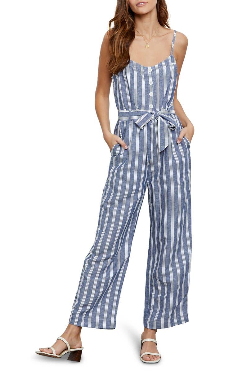 RAILS Harper Tie Waist Crop Jumpsuit, Main, color, NORMANDY STRIPE