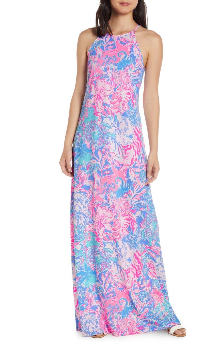 2446212627 Margot Maxi Dress, Main, color, BLUE PERI VIVA LA LILLY