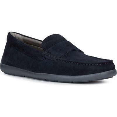 Geox Devan 1 Driving Shoe, Blue