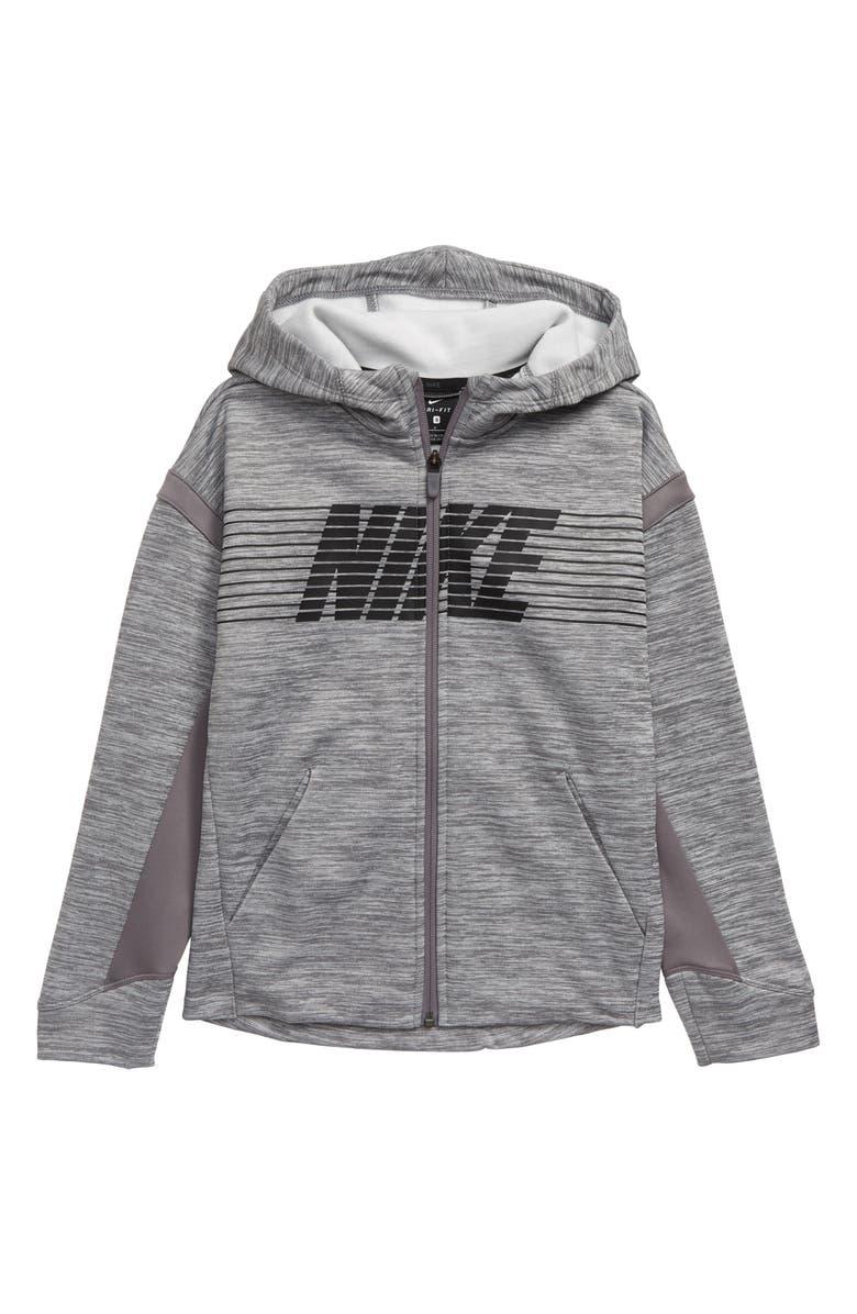 Nike Therma FIT Full Zip Hoodie (Little Boys & Big Boys