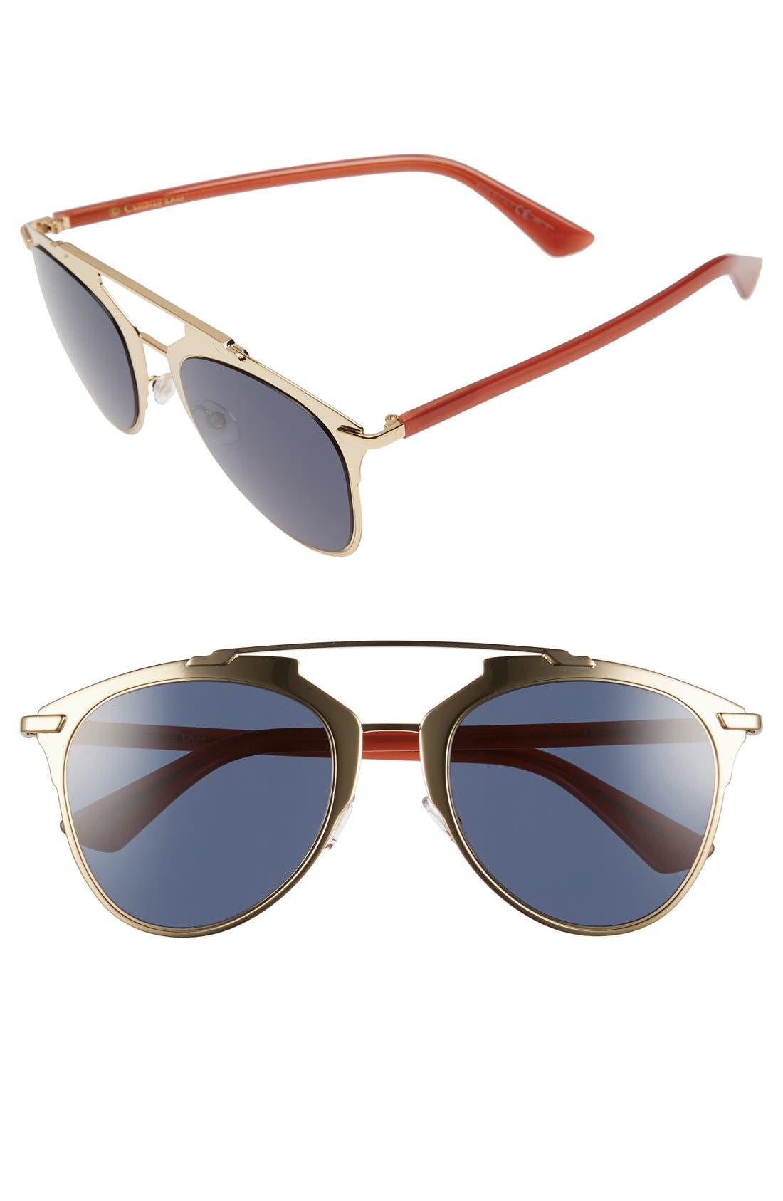 ,                             Reflected 52mm Brow Bar Sunglasses,                             Main thumbnail 39, color,                             713