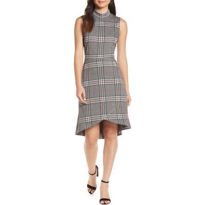 Leota Alyssa Stripe Dress, Grey