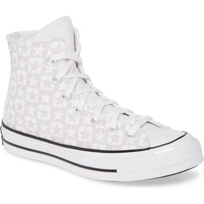 Converse Chuck Taylor All Star Flocked Canvas High Top Sneaker, White