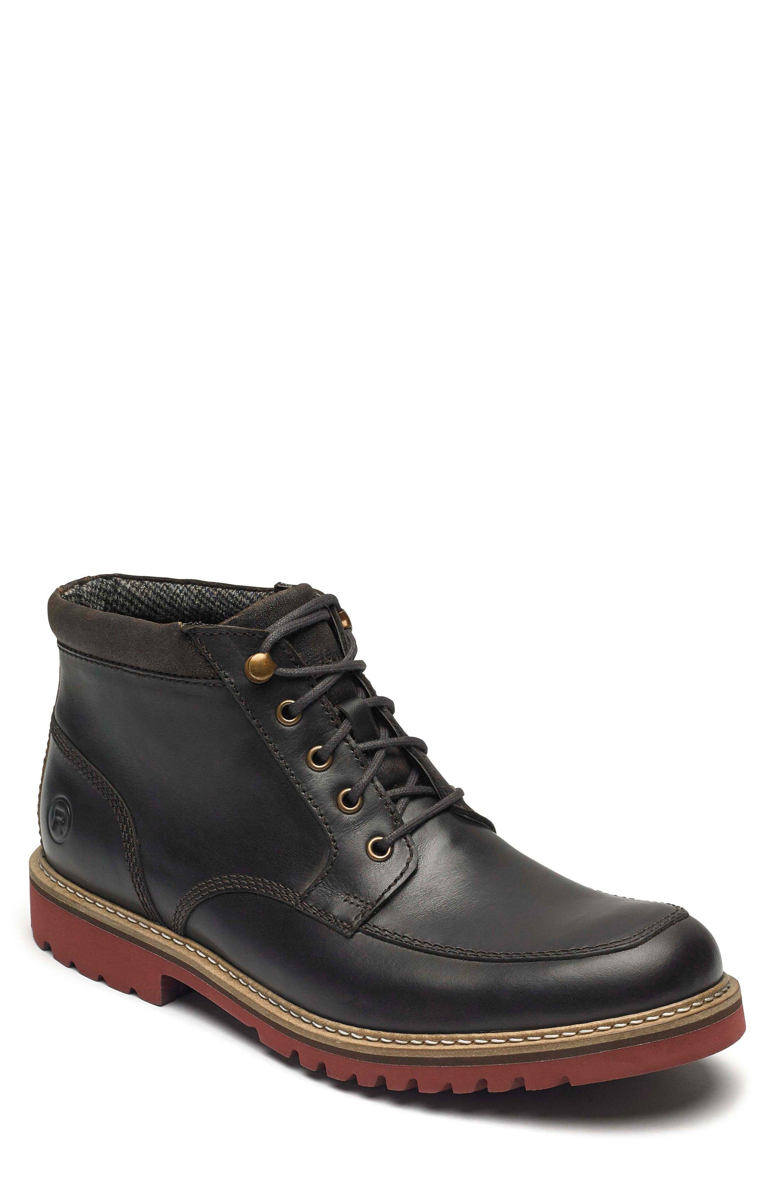 Rockport Marshall Moc Toe Boot- Brown