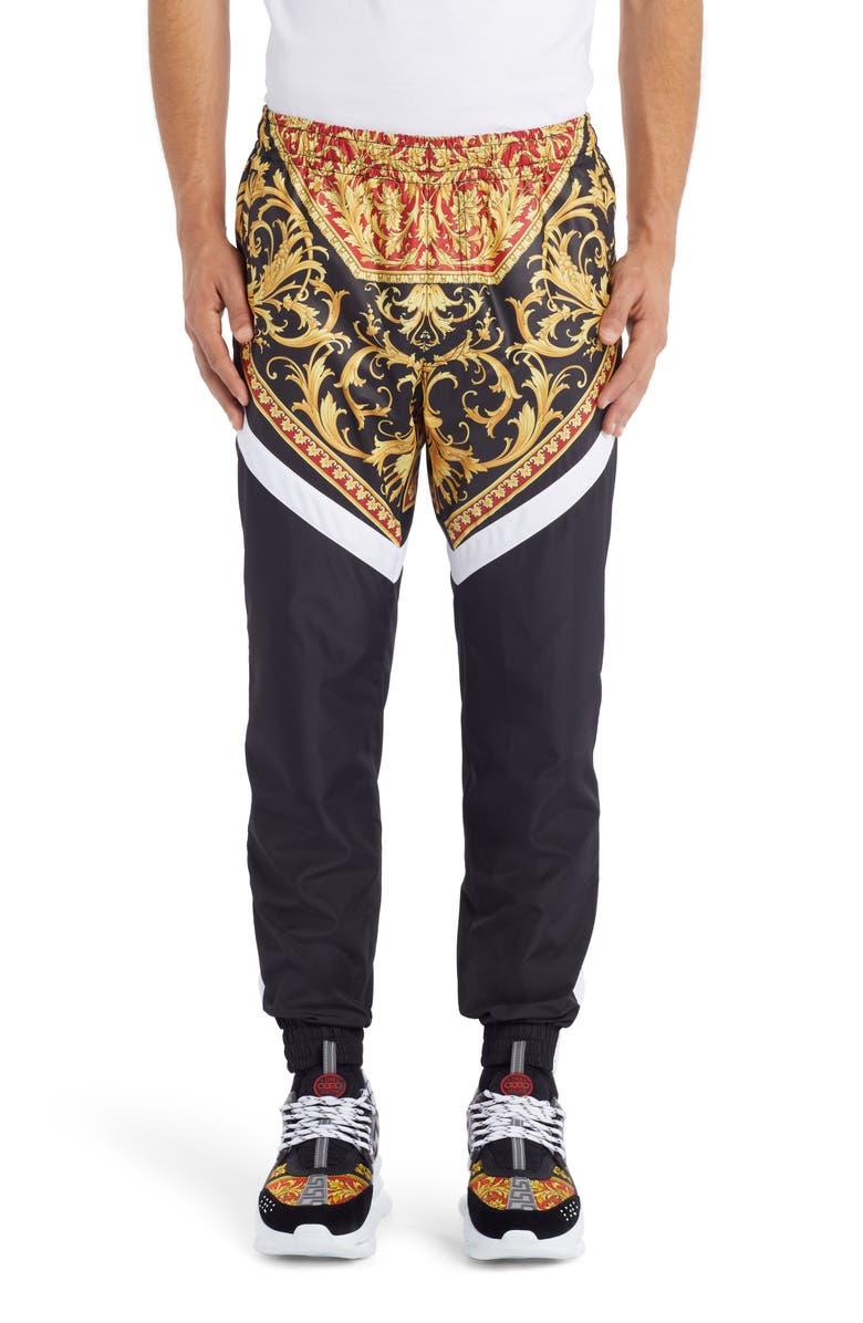 VERSACE Le Pop Classique Baroque Print Track Pants, Main, color, 611