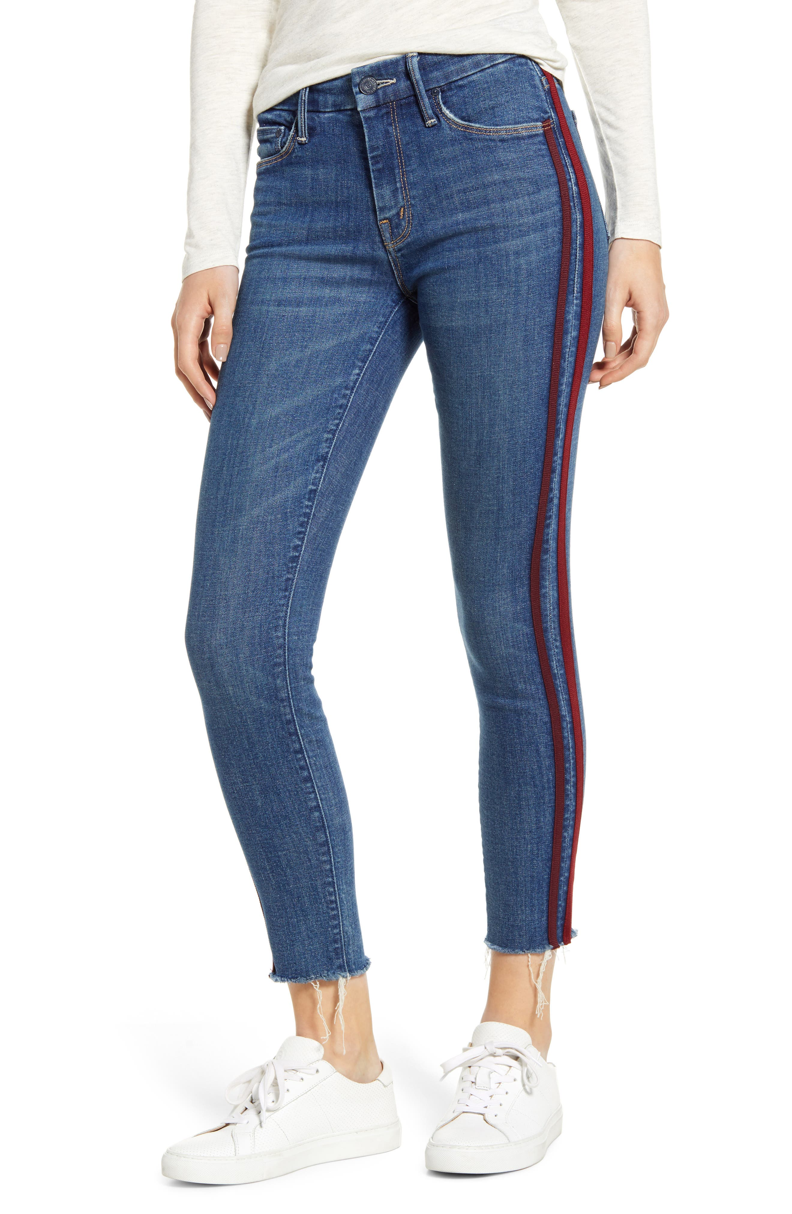 ,                             'The Looker' Frayed Ankle Jeans,                             Main thumbnail 8, color,                             420