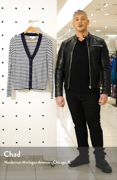 Tipped Front Button Cardigan, sales video thumbnail