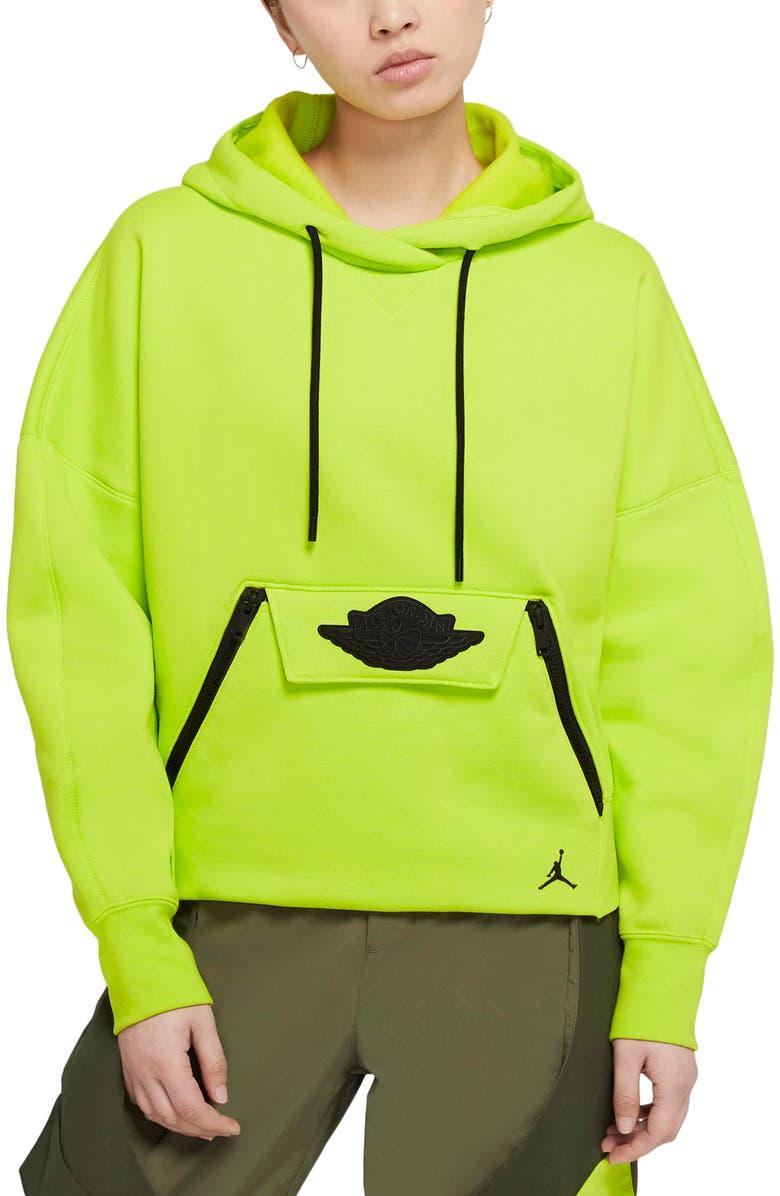 JORDAN Nike Jordan Fleece Crop Hoodie, Main, color, 389