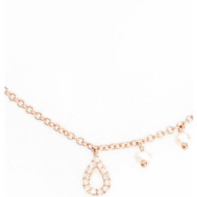Meira T Diamond Teardrop Charm Collar Necklace