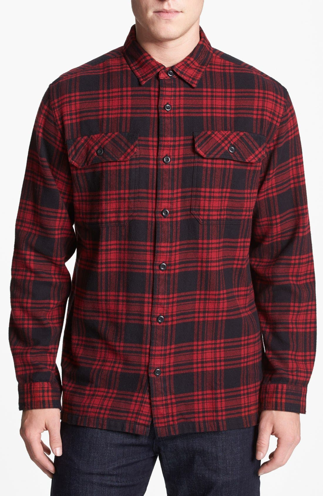 ,                             'Fjord' Regular Fit Organic Cotton Flannel Shirt,                             Main thumbnail 126, color,                             600