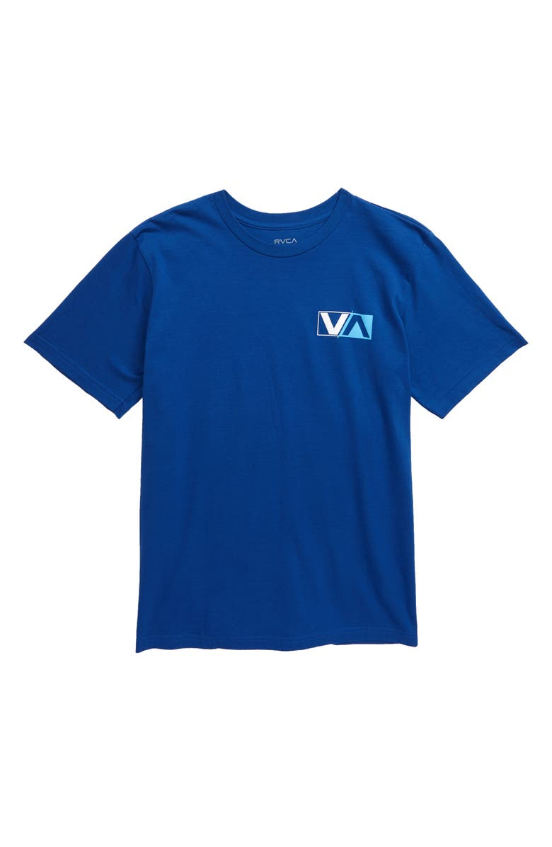 RVCA Lateral Graphic T-Shirt, Main, color, BRIGHT BLUE