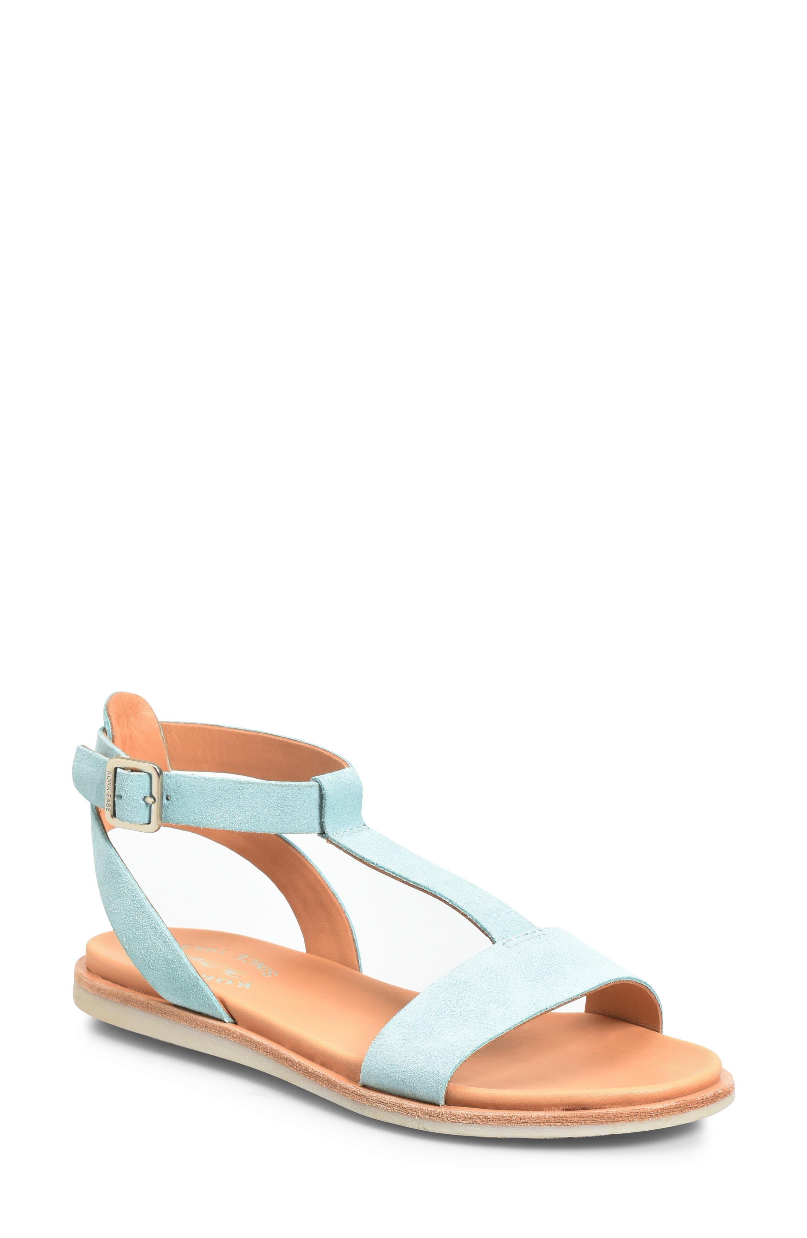 Kork-Ease Zukey T-Strap Sandal, Blue