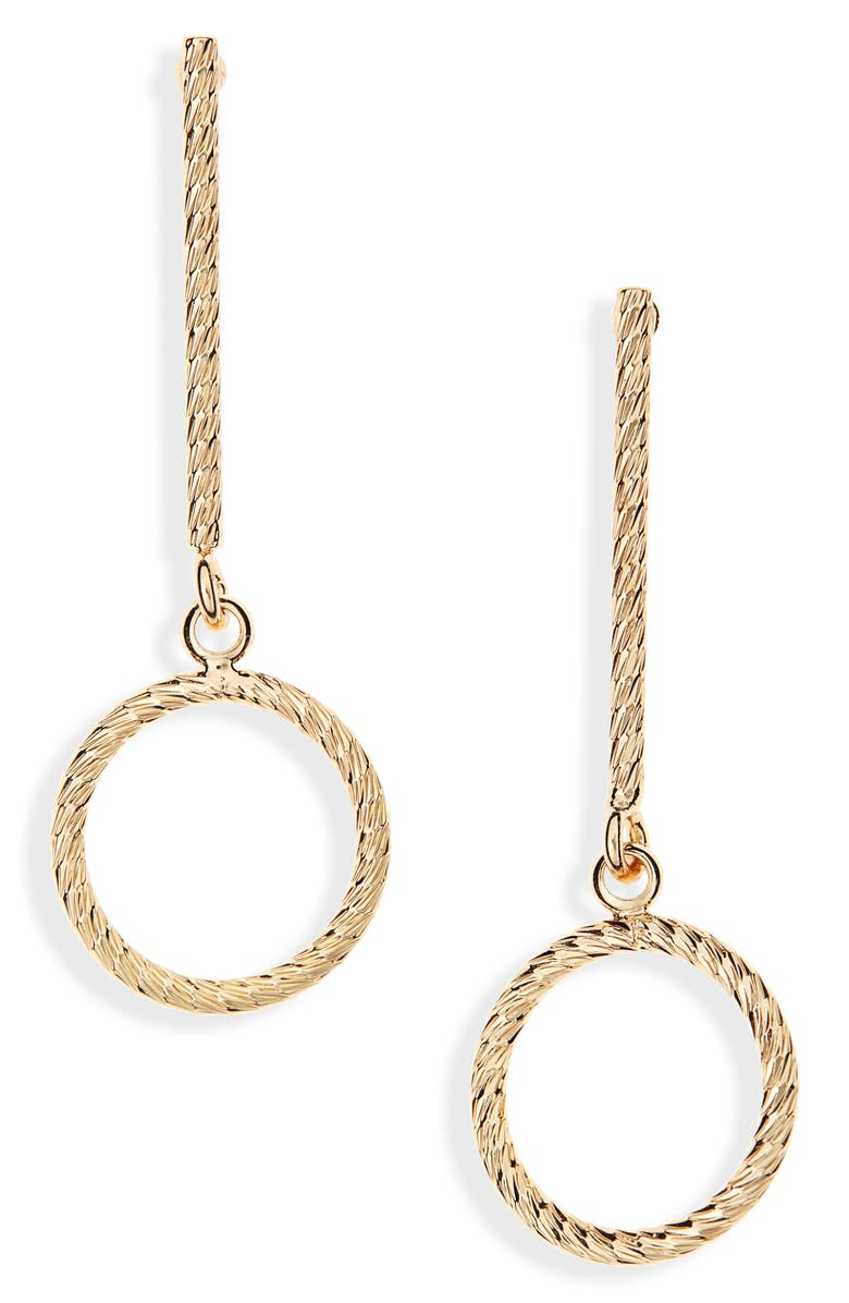 HALOGEN<SUP>®</SUP> Faceted Drop Earrings, Main, color, GOLD
