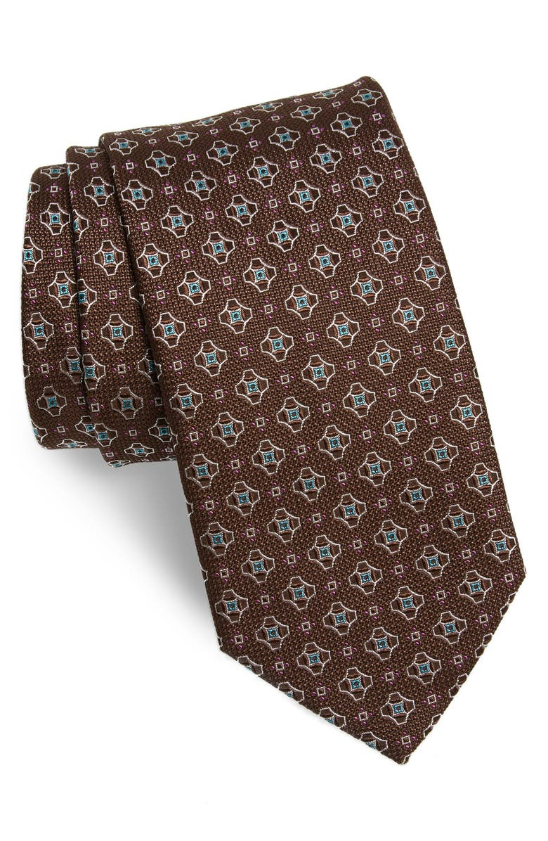 ETON Geometric Silk Tie, Main, color, 200