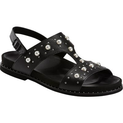 Earth Fuji Studded Sandal, Black