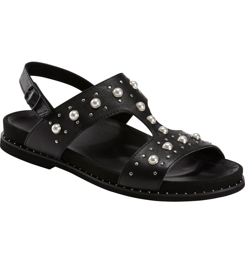 EARTH<SUP>®</SUP> Fuji Studded Sandal, Main, color, BLACK LEATHER