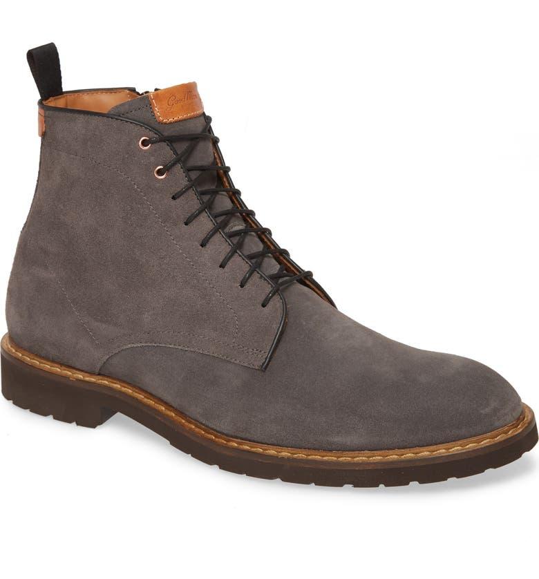 GOOD MAN BRAND Derby Norwegian Plain Toe Boot, Main, color, GREY